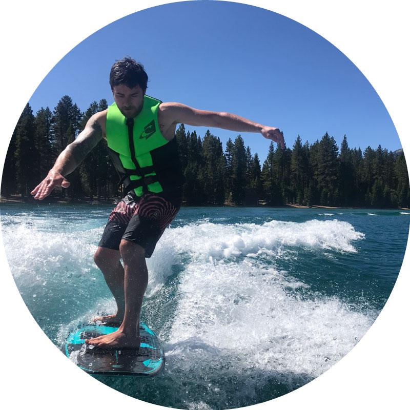 lake tahoe wakesurfing lesson